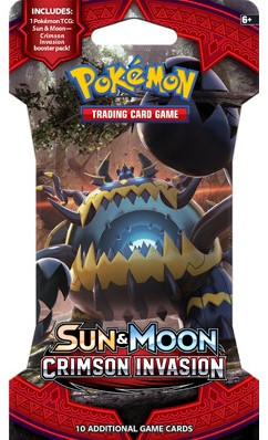 Pokemon Sun & Moon Crimson Invasion - Sleeved Boosterpack-2
