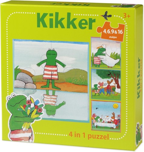 De Wereld van Kikker - 4 in 1 Puzzel