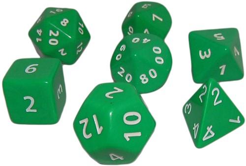 Groene Jumbo Polydice Set