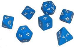 Blauwe Polydice Set