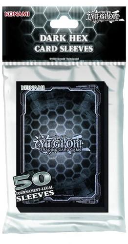 Yu-Gi-Oh! - Standard Hex Black + Silver Sleeves (50 stuks)