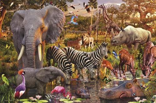 Afrikaanse Dierenwereld Puzzel (3000 stukjes)-2