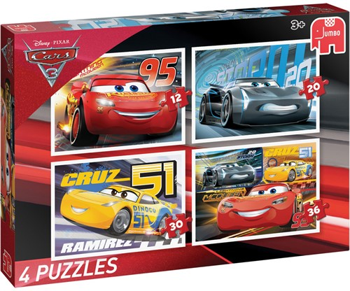 Cars 3 - Puzzel (4 in 1)-1