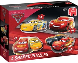 Cars 3 - Vormpuzzels (4 in 1)