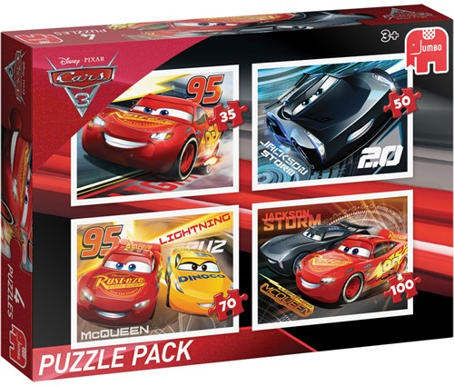 Cars 3 - Puzzle Pack (4 in 1)-1