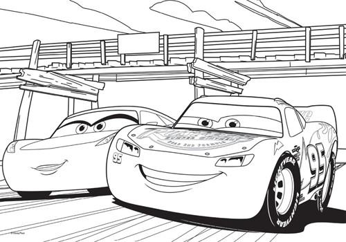 Disney - Cars 3 - Puzzelen & Kleuren (Medium)