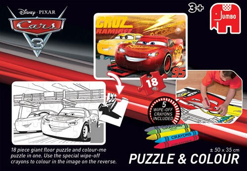 Disney - Cars 3 - Puzzelen & Kleuren (Medium)-3