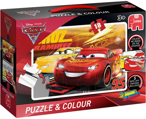 Disney - Cars 3 - Puzzelen & Kleuren (Medium)