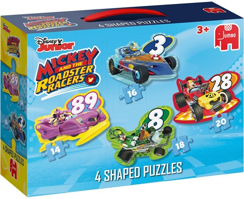 Disney - Mickey and the Roadster Racers - Vormpuzzel (4 in 1)-1