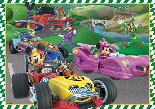 Disney - Mickey and the Roadster Racers Puzzel (4 in 1)-2