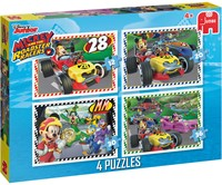 Disney - Mickey and the Roadster Racers Puzzel (4 in 1)-1