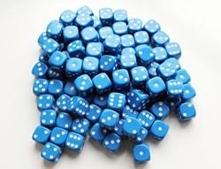 Dobbelstenen 16mm - Blauw (100 stuks)