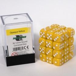 Dobbelstenen 12mm - Geel (36 stuks)