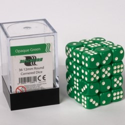 Dobbelstenen 12mm - Groen (36 stuks)