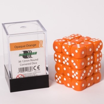 Dobbelstenen 12mm - Oranje (36 stuks)