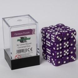 Dobbelstenen 12mm - Paars (36 stuks)
