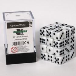 Dobbelstenen 12mm - Wit (36 stuks)