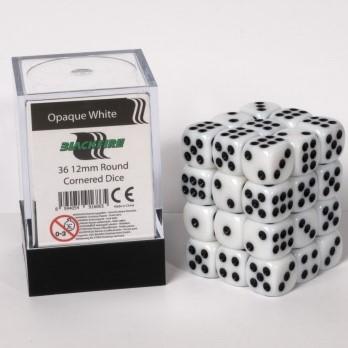 Dobbelstenen 12mm - Wit (35 ipv 36 stuks)