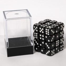 Dobbelstenen 12mm - Zwart (36 stuks)