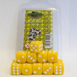 Dobbelstenen 16mm - Geel (15 stuks)