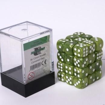 Marble Dobbelstenen 12mm - Groen (36 stuks)