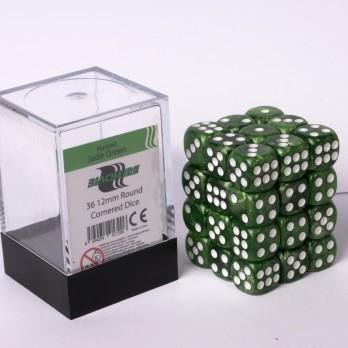 Marble Dobbelstenen 12mm - Jade Groen (36 stuks)