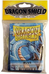 Dragon Shield Sleeves - Mini Blauw (59x86 mm)