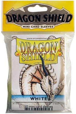 Dragon Shield Sleeves - Mini Wit (59x86 mm)
