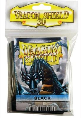 Dragon Shield Sleeves - Standaard Zwart (63x88 mm)