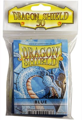 Dragon Shield Sleeves - Standaard Blauw (63x88 mm)