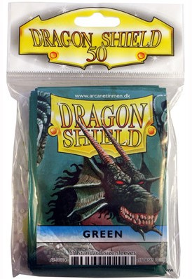 Dragon Shield Sleeves - Standaard Groen (63x88 mm)