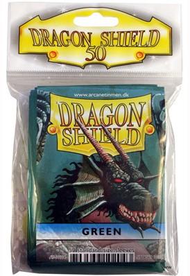 Dragon Shield Sleeves - Standaard Groen (66x92 mm)