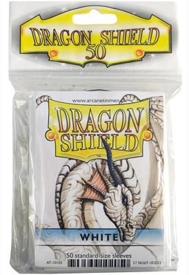 Dragon Shield Sleeves - Standaard Wit (63x88 mm)