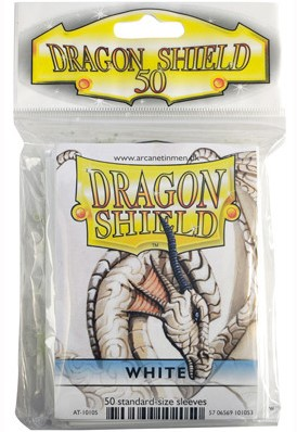 Dragon Shield Sleeves - Standaard Wit (66x92 mm)