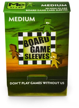 Sleeves Non Glare Board Game - Medium (57x89 mm)-1