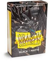 Dragon Shield Sleeves Japanese- Black (60 stuks)