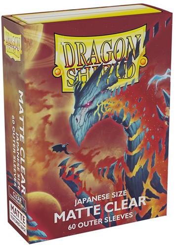 Dragon Shield Sleeves - Japanese Matte Clear (60 stuks)