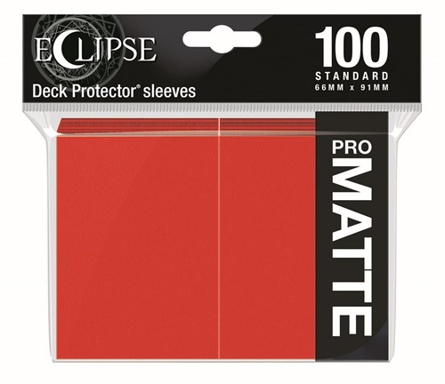 Standard Sleeves Matte Eclipse - Rood (100 stuks)