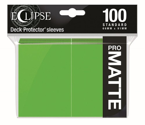 Standard Sleeves Matte Eclipse - Lime Groen (100 stuks)