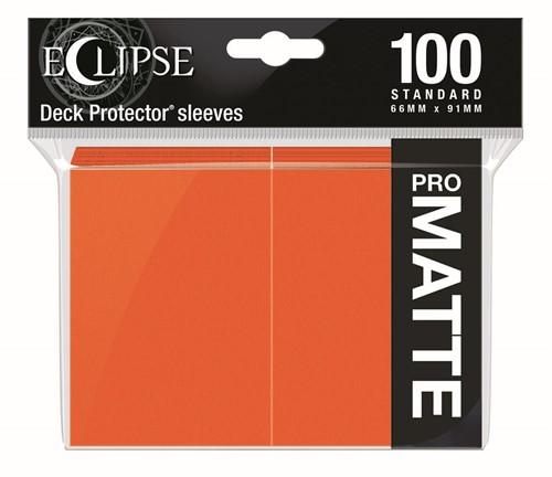 Standard Sleeves Matte Eclipse - Oranje (100 stuks)