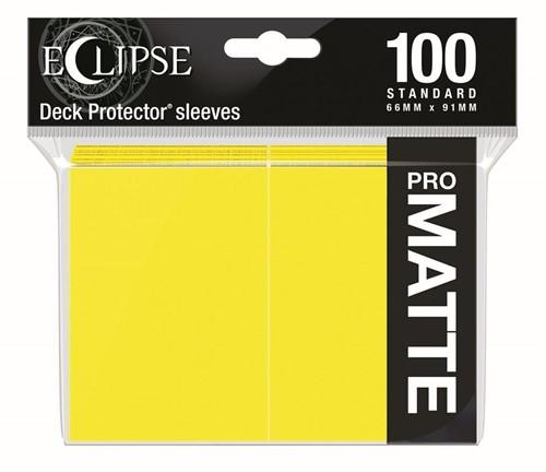 Standard Sleeves Matte Eclipse - Geel (100 stuks)