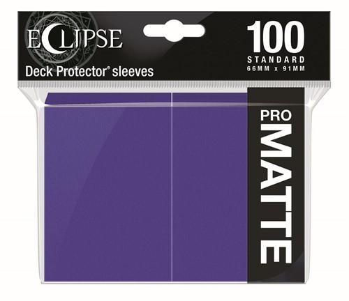 Standard Sleeves Matte Eclipse - Paars (100 stuks)