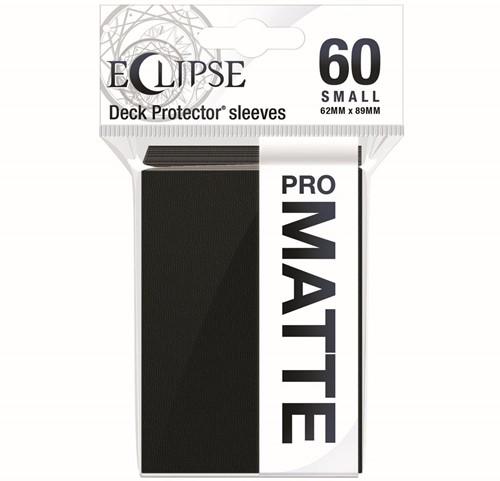 Sleeves Eclipse Matte Small - Zwart (62x89 mm)