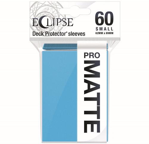 Sleeves Eclipse Matte Small - Licht Blauw (62x89 mm)