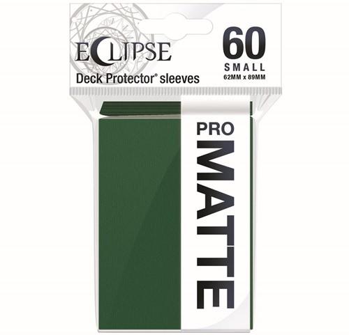 Sleeves Eclipse Matte Small - Donker Groen (62x89 mm)