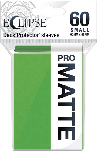 Sleeves Eclipse Matte Small - Lime Groen (62x89 mm)