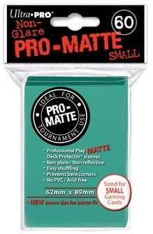 Sleeves Pro-Matte - Small Aqua (62x89 mm)