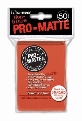 Sleeves Pro-Matte - Standaard Peach (66x91 mm)
