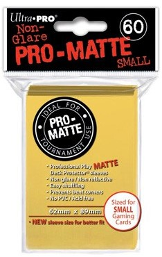 Sleeves Pro-Matte - Small Geel (62x89 mm)