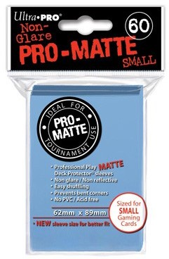 Sleeves Pro-Matte - Small Lichtblauw (62x89 mm)
